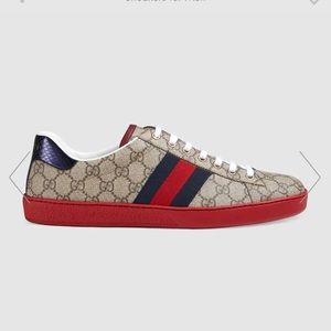 Gucci canvas men's shoes